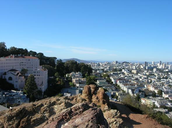 Corona Heights Park, best view of San Francisco, California,