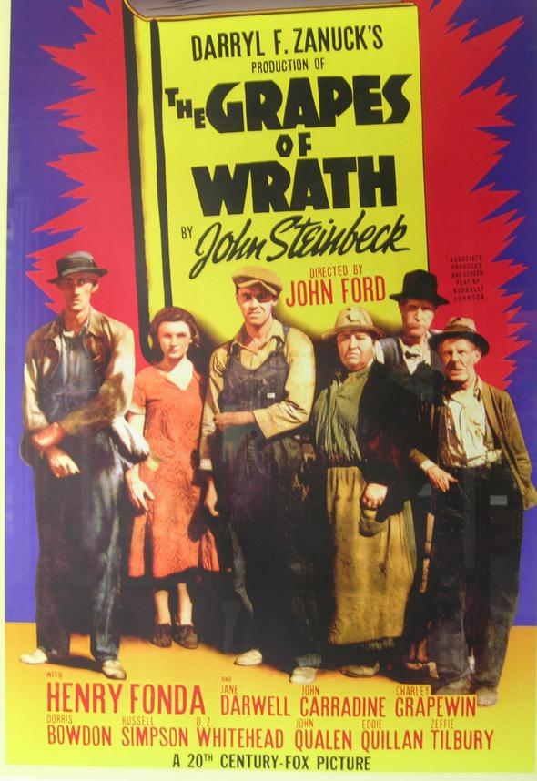 grapes of wrath movie poster stanford theatre