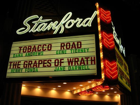 grapes of wrath marquee stanford theatre